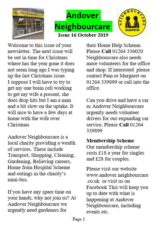 Andover neighbourcare october 19p1